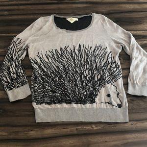 Anthropologie hedgehog sweater
